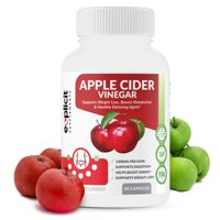 Apple Cider Vinegar Pills - Powerful Weight Loss Aide, 1300mg Dose - Natural & Potent - 1 Month