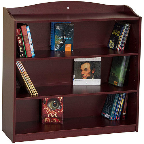 Guidecraft 4-Shelf Bookshelf, Cherry