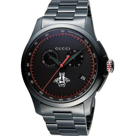 aa0aa0db50e Gucci - G-Timeless Black Stainless Steel Chronograph Mens Watch YA126269 -  Walmart.com