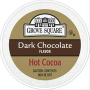 Grove Square Dark Chocolate Hot Cocoa, for Keurig K Cups Brewers, 24 Count
