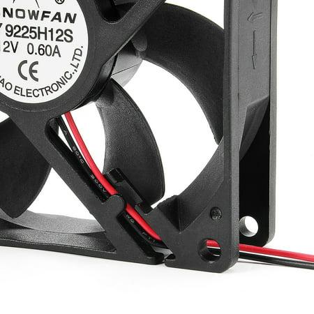92mm x 92mm x 25mm 12V DC Cooling Fan Long Life HY Bearing Computer Case Fan - image 5 of 7