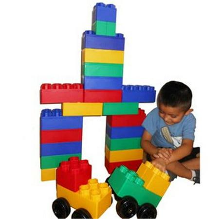 40pc Jumbo Blocks with Wheels Big City Play Set - Jumbo Building Blocks