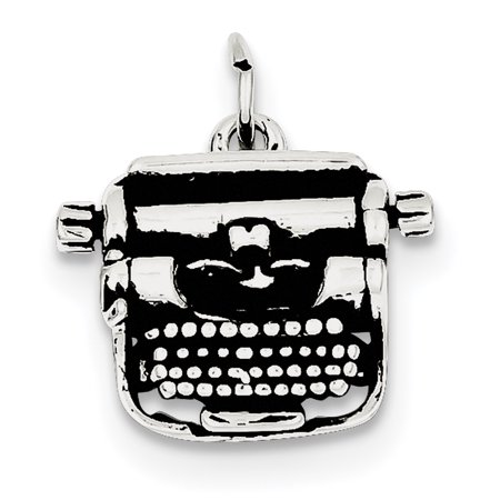 Sterling Silver Antiqued Typewriter Charm