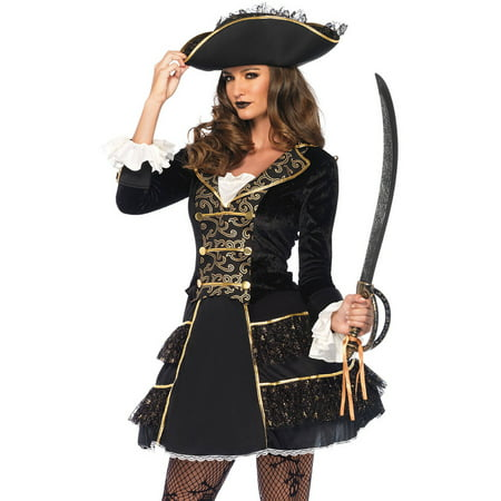 Leg Avenue Adult High Seas Pirate Captain 2-Piece Costume - Captain Hook Costume For Adults