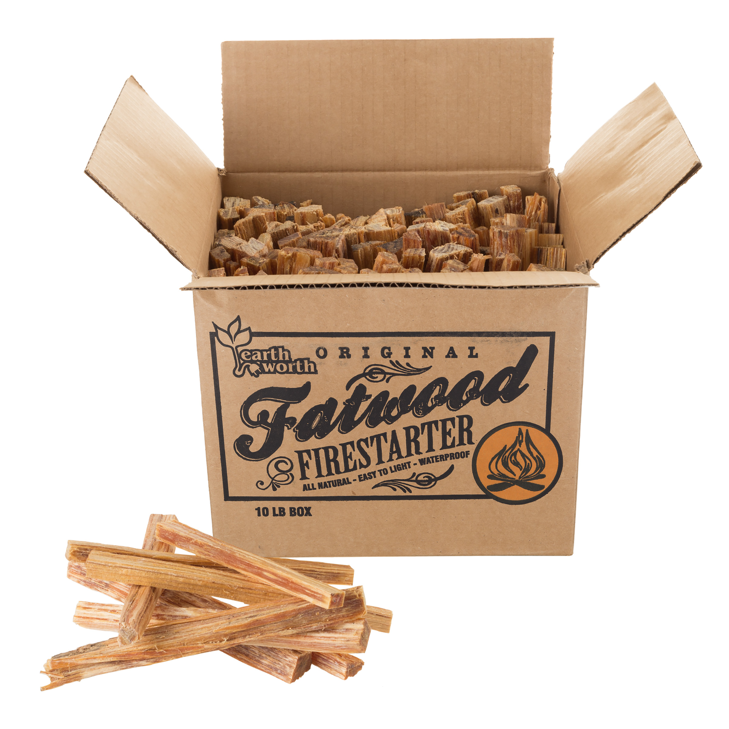 Click here to buy Fatwood Firestarter Kindling Sticks for Wood Stoves, Fireplaces, BonFirepits, Camping, Grill, Survival Quickstart Tinder... by Trademark Global LLC.