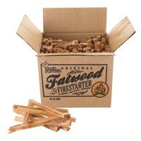 Fatwood Firestarter Kindling Sticks for Wood Stoves, Fireplaces, Bonfire Pits, Camping, Grill, Survival Quickstart Tinder by Pure Garden, 10 or 25 lb. Box