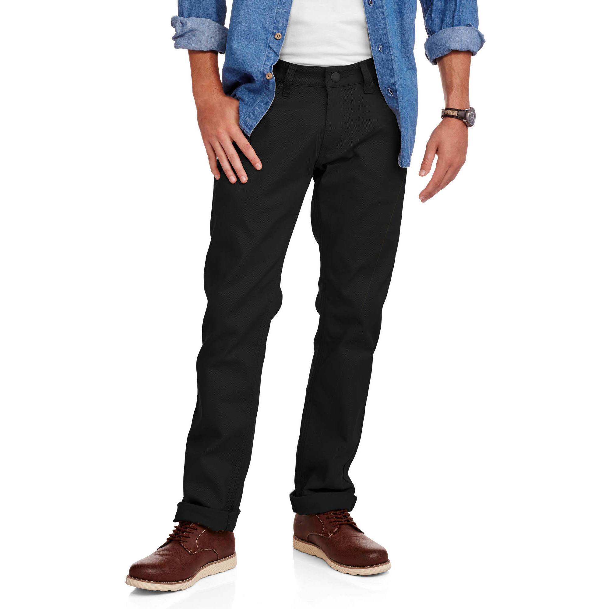 Men's Slim Straight Bull Denim Jeans by Generic