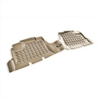 Floor Liner, Rear 1-Pc, Tan, 2007-2014 Jeep Wrangler Unlimited JK