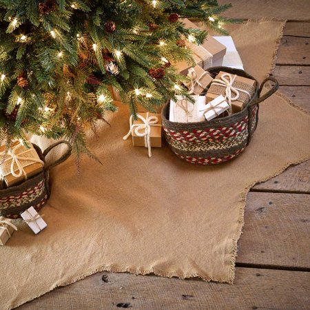 Natural Tan Farmhouse Christmas Decor Burlap Natural Cotton Cotton Burlap Solid Color 48