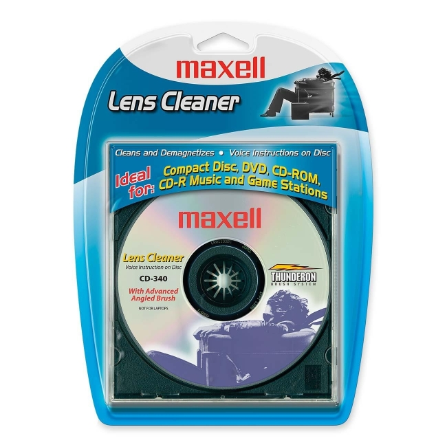 Maxell CD-340 CD Lens Cleaner - 1 Each