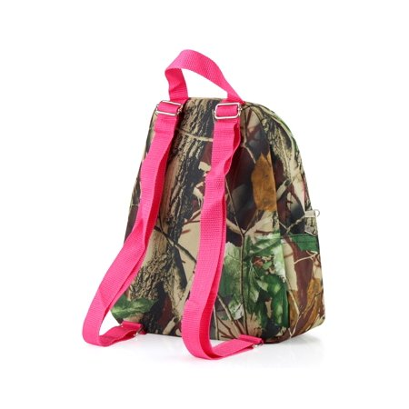 Zodaca Stylish Kids Small Travel Backpack Girls Boys Bookbag Shoulder Children's School Bag for Outside Activity - Natural Camoflague with Pink Trim - image 4 of 4