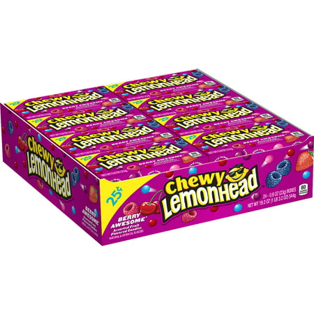 Lemonhead, Berry Awesome Chewy Candy, 0.8oz (Box of 24)