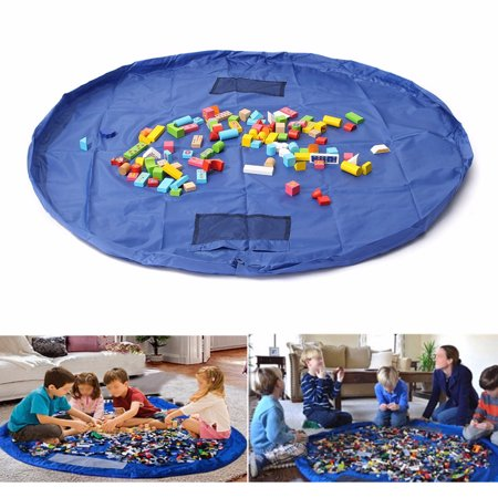 On Clearance Large 59ft Childrens Floor Play Mat In Portable Shoulder Bag Toddlers Kids Toy Storage Organizer Net Indoor Outdoor Easy Clean Up