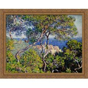 Bordighera 34x28 Large Gold Ornate Wood Framed Canvas Art by Claude Monet