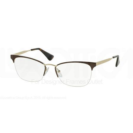 5448ef029d PRADA Eyeglasses PR 65QV DHO1O1 Brown Pale Gold 51MM - Walmart.com