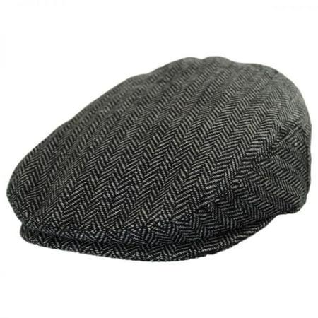 Baby Herringbone Wool Blend Ivy Cap - 48cm (18-24 M) - Charcoal