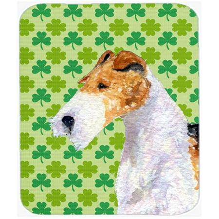 Carolines Treasures SS4409MP Fox Terrier St. Patricks Day Shamrock Portrait Mouse Pad, Hot Pad Or Trivet - image 1 of 1