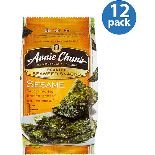 Annie Chun's Sesame Roasted Seaweed Snack, 0.35 oz, (Pack of 12)