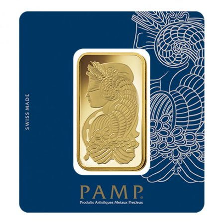 Pamp Suisse Gold Lady Fortuna Design 100 Gram Gold Bar ()