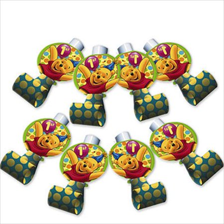 Winnie the Pooh Balloon 1st Birthday Blowouts / Favors (8ct)](Winnie The Pooh Mylar Balloons)
