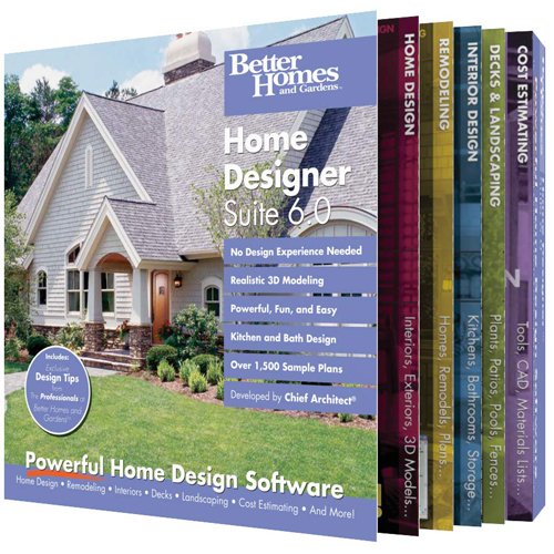 Better Homes And Gardens Home Designer Suite   (v. 6.0)   Box Pack