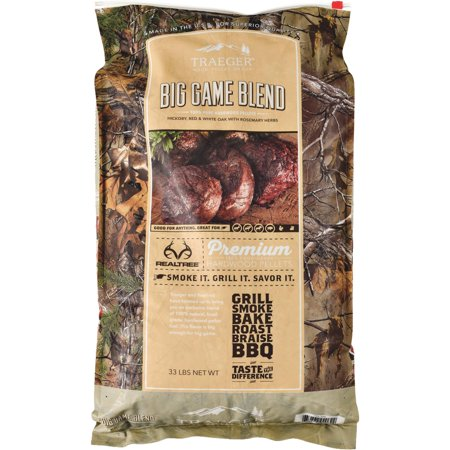TRAEGER PELLET GRILLS LLC Realtree Big Game Blend Pellets, 33-Lbs. PEL320
