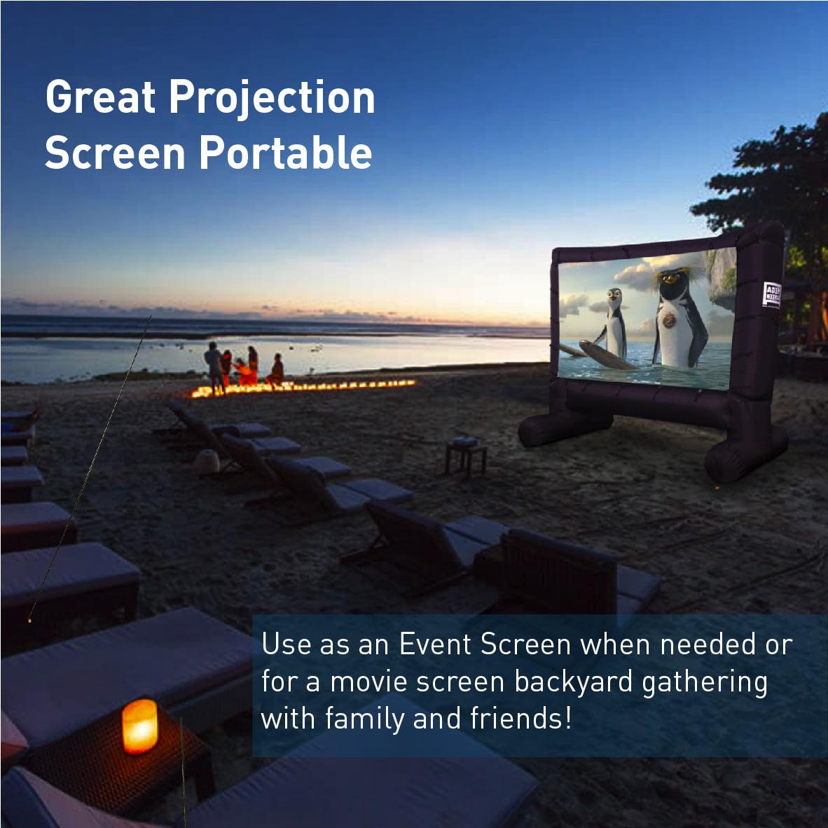 mega screen movie screen u2013 inflatable projection screen portable