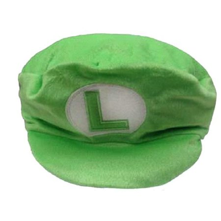 Super Mario Bros Oversized Plush Green Luigi Hat (Mario And Luigi Party Hats)