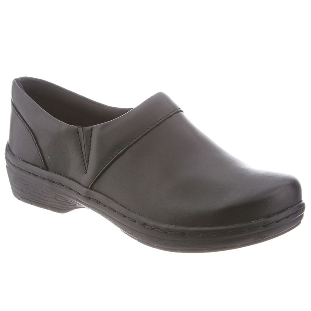 Klogs Mace Men's Leather Slip-resistant Supportive Clog Black Smooth by Klogs Footwear
