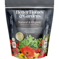 Better Homes & Gardens Natural & Organic Professional Container Soil Mix, 6 Quart