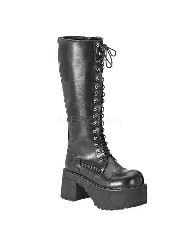 RAN302/B/PU Demonia Vegan Boots Unisex BLACK Size: 10