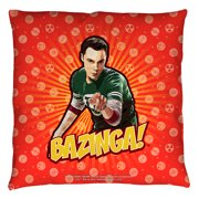 Big Bang Theory Bazinga Throw Pillow White 14X14