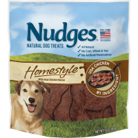 Nudges Homestyle Chicken and Bacon Dog Treats, 16 Oz.