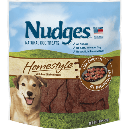 Nudges Homestyle with Real Chicken Bacon Dog Treats, 16 Oz](Puppy Chow Halloween Treat)
