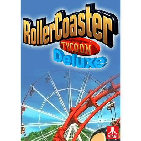 Atari RollerCoaster Tycoon Deluxe (Best Roller Coaster Tycoon Game)