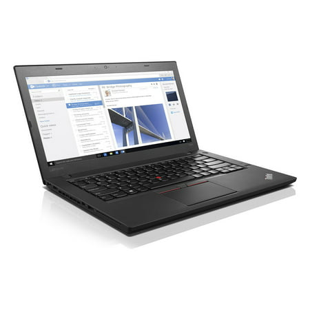 Microsoft Authorized Refurbished Lenovo Thinkpad T460 Notebook Intel Core I5-6300U, 2.40Glv 8GB/2-Dimm 512GB SSD GBe 802.11Ac+BT Webcam Intel HD 520 Graphics 14AG HD W10P-64 3-Cell 3.8Lbs Black 1Year Microsoft Intel Notebooks