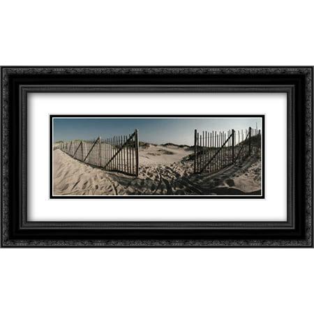 Herring Cove 2x Matted 24x14 Black Ornate Framed Art Print by Lake, Shelley
