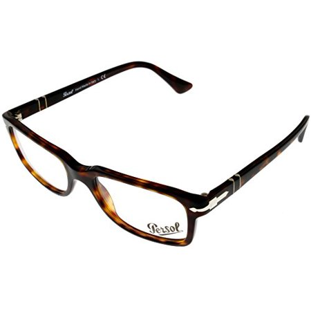 Persol Prescription Eyeglasses Frame Unisex Rectangular Havana PO3130V 24 Size: Lens/ Bridge/ Temple: - Havana Temple