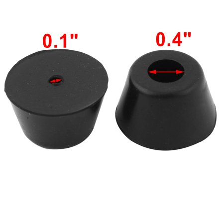 Home Rubber Anti-slip Furniture Chair Desk Foot Leg Protector Cover Black 9pcs - image 1 of 3