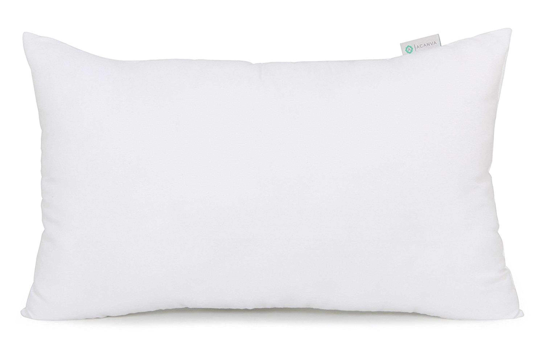 Acanva Decorative Rectangle Throw Pillow Inserts Hypoallergenic Form Stuffer Cushion Sham Filler 16 L X 26 W White Walmart Com Walmart Com
