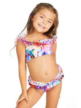 35632628a5a87 Product Image Raisins Girls Crystal Cove Lil Tsunami Off The Shoulder  Ruffled Bikini Set 4