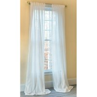 Manor Luxe Emily Striped Sheer Rod pocket Single Curtain Panel