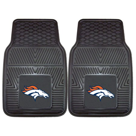 Denver Broncos 2-pc Vinyl Car Mats 17