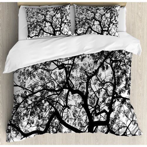 Ambesonne Apartment Forest Tree Branches Modern Decor Spo...