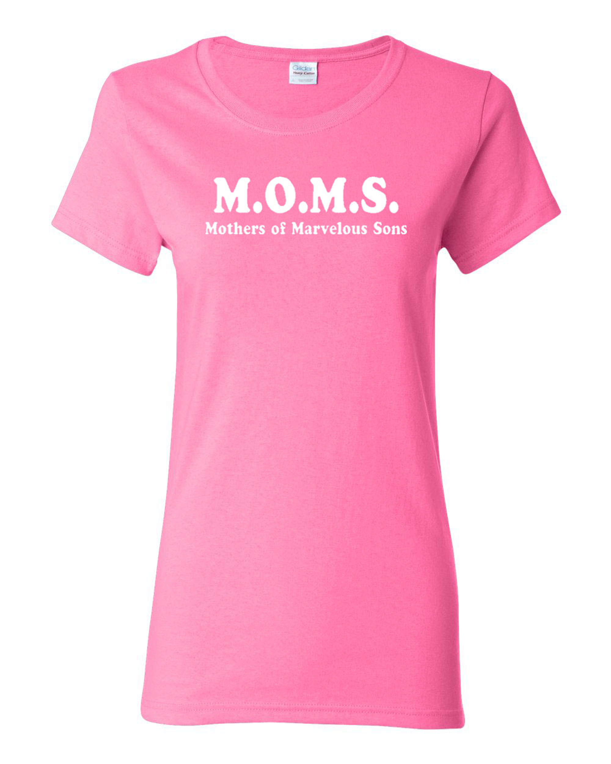 Ladies M.O.M.S Mothers Of Marvelous Sons Funny T-Shirt Tee