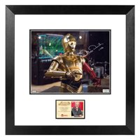 Anthony Daniels Autographed Star Wars: The Force Awakens C-3PO D'Qar Rebel Base 8x10 Framed Photo