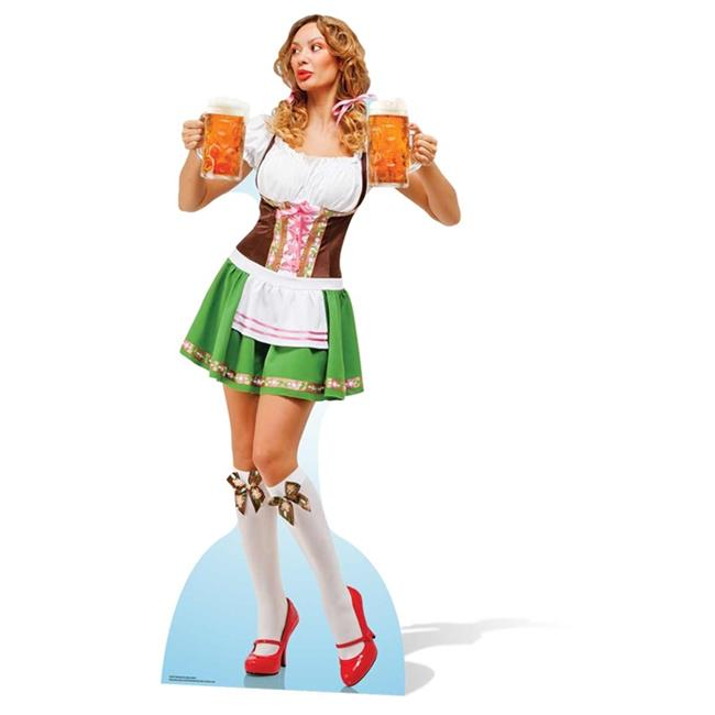 Star Cutouts SC876 Oktoberfest Beer Babe Cardboard Cutout Standup - image 1 of 1