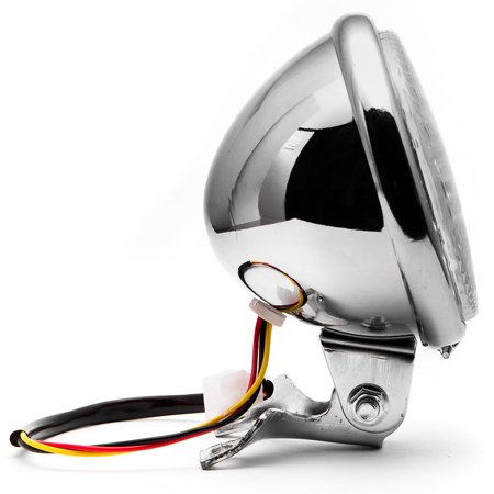"Krator 5"" Chrome LED Headlight w/ Light Mounting Bracket for Yamaha Raider S XV 1900 XV1900 - image 3 of 7"