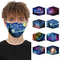 1 3 5 PCS Fashion Face Cloth Shield Reusable washable-5 layers-filtering 8 Styles Effective PM2.5 Filters USA seller