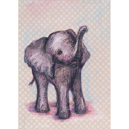 Oopsy Daisy's Elephant Baby Canvas Wall Art, 10x14